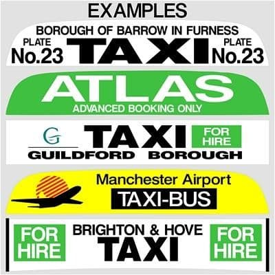 """36"""" Taxi Sign Lettering (1)"""