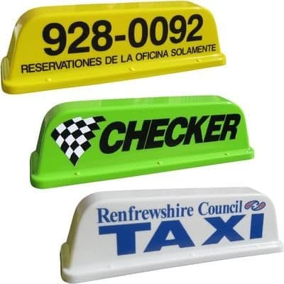 Taxi Roof Signs 24