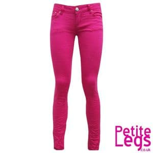 Avril Crinkle Skinny Jeans in Hot Pink   UK Size 10   Petite Leg Inseam Select: 24 - 30 inches