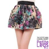 Charli Soft Fabric Floral Poofy Ball Gown Mini Skirt | Petite UK Size 4-8