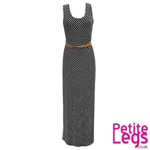 Isabella Polkadot Maxi Dress in Black and White   UK Size 10-12   Petite Height 5ft0