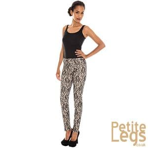 Kelly Peg Leg Trousers in Nude with Black Bonded Lace | UK Size 10/12 | Petite Inseam Select: 24 - 29.5 Inches