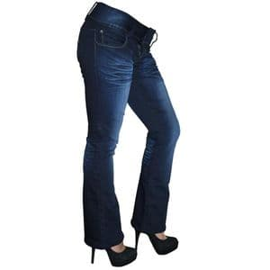 Rosie Bootcut Jeans   UK Size 8/10   Petite Leg Inseam 27.5 inches   With Free Belt