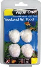 Aqua One Block Weekend Fish Food 20g