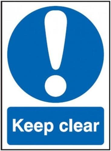 10 Pack - 'Keep Clear' Single Sided