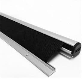 Automatic swing door roller finger protection guard