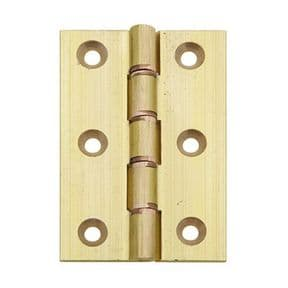 Extruded Brass Butt Hinge 76 x 51mm