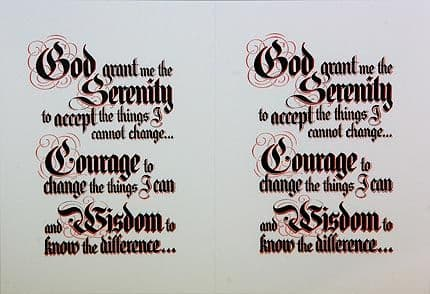 Serenity Prayer Laminated Small Foldable