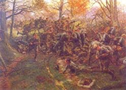 Print - Defeat of the Prussian Guard at Ypres, 1914