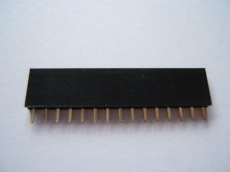 15 Way 2.54mm Pitch PCB Header Socket Pack of 10