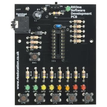 RKOne Training/Development PCB for 18 pin PIC,PICAXE and Genie Self Build Kit