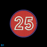 Race Numbers - Red/Blue +