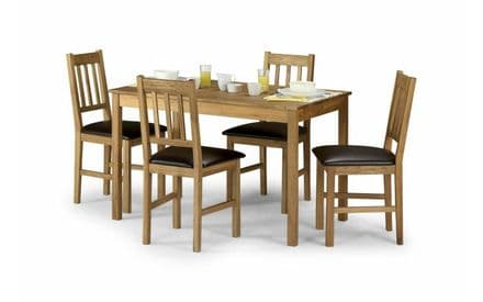 Coxmoor White Oak Table & 4 Chairs