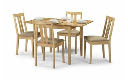 Rufford Natural Finish Extending Table & 4 Chairs