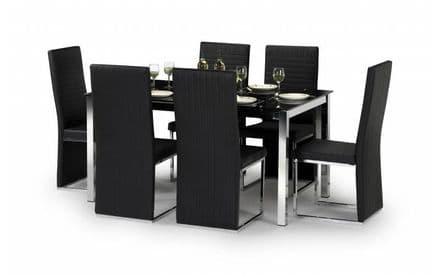 Tempo Glass Table & 4 Chairs