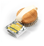 Exfoliating Body BrushMade From Natural Bristles & Olive Wood
