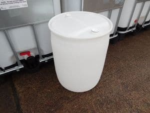 160 litre Recycled White Translucent Drum