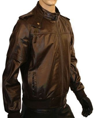 Men's Leather Biker Style Fashion Jacket - M1236