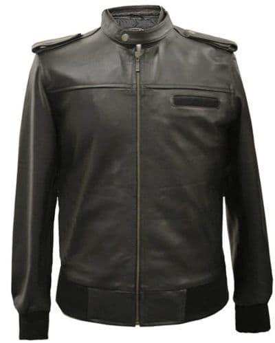 Black Leather Motorcycle Jacket|Biker Leather Jackets|Men|SALOU
