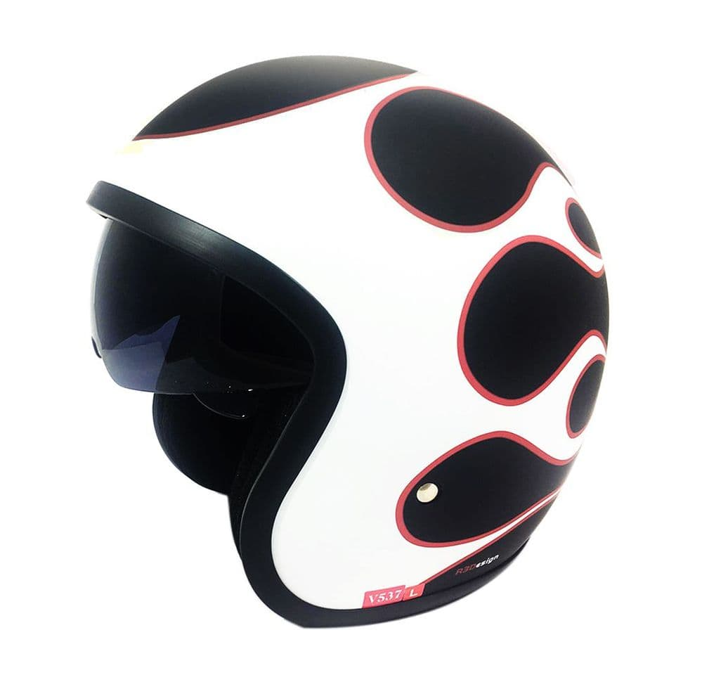 Open Face Motorcycle Helmet -Viper RSV06 - Flame