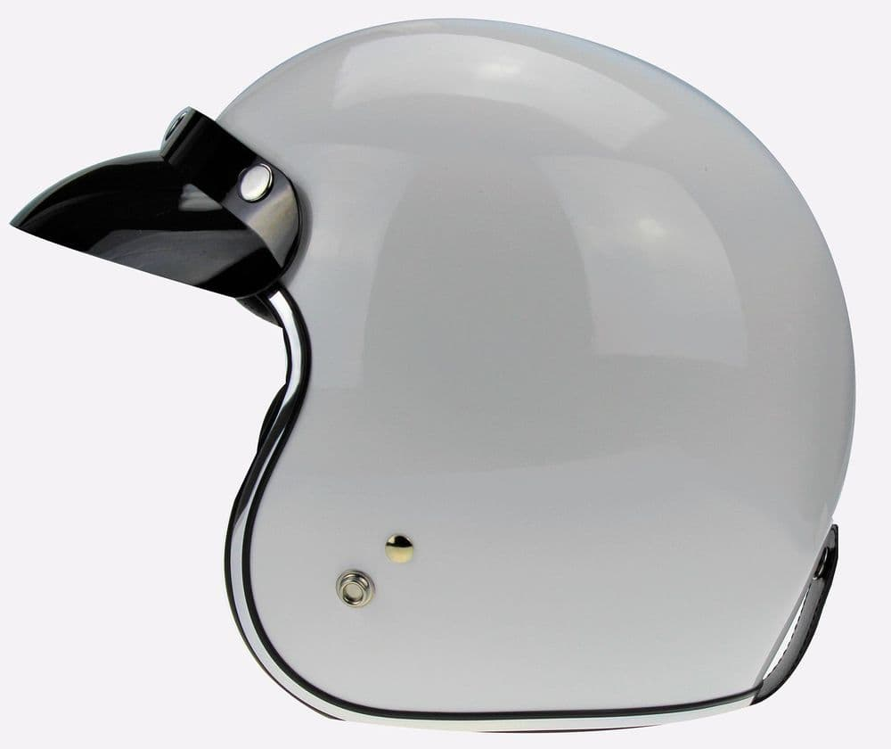 RS05 - White Open Face Motorcycle Helmet
