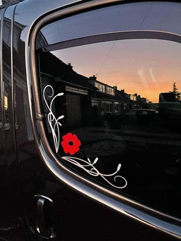 2 x TVP - Cab Window Scroll Designs With POPPY (pair)