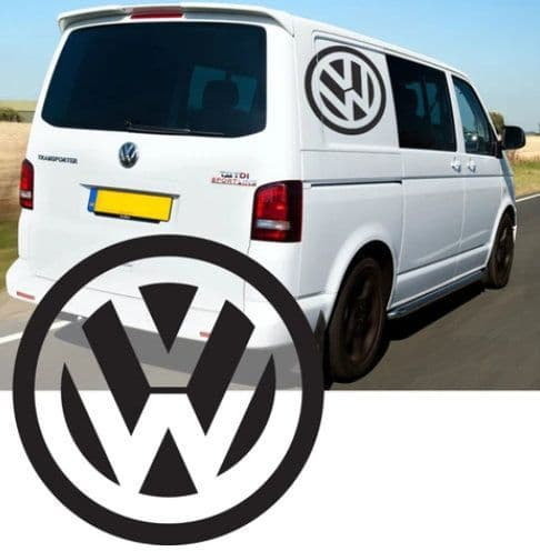 2 x VW Logo  - Choice Of Colour 21.5in x 21.5in