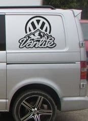 2 x VW Vanlife Stickers - Choice Of Colour