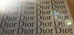 24 x Dior Logo Stickers 7.2in  x 2.8in each - Choice Of Colour