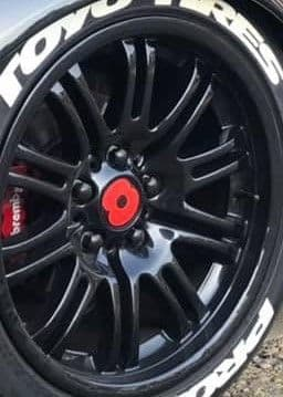 4 x Poppy Wheel Centre Stickers - TVP