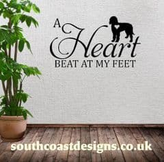 A Heart Beat At My Feet - Labradoodle - Wall Sticker