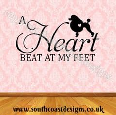 A Heart Beat At My Feet - Poodle Wall Sticker