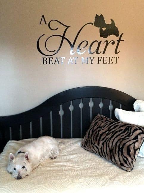 A Heart Beat At My Feet - Westie Wall Sticker