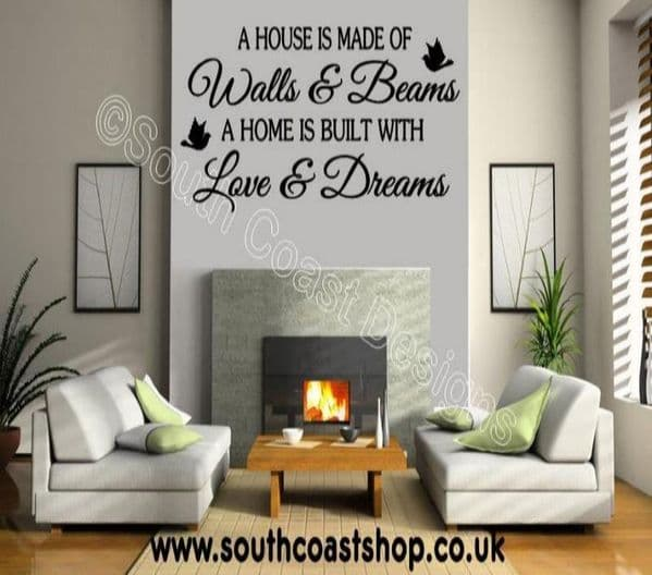 A house is made of walls and beams wall stickers.