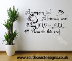 A Wagging Tail A Friendly Woof - Boxer Wall Sticker