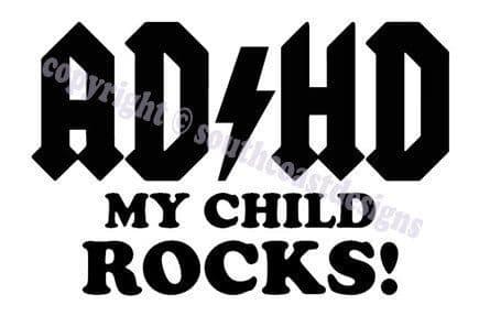 ADHD My Child Rocks Vehicle Sticker