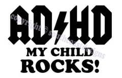 ADHD My Child Rocks Vehicle Sticker