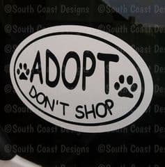 Adopt Don't Shop - Car Sticker - Choice Of Colour