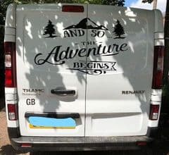 And So The Adventure Begins - Back Doors Decal Sticker