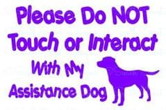 Assistance Dog Sticker - Labrador