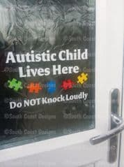 Autistic Child Lives Here - Do Not Knock Loudly - WITH JIGSAWS