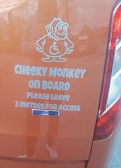 Cheeky Monkey On Board - Please Leave 3 Metres For Access