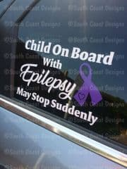 Child Adult Or Person On Board With Epilepsy - May Stop Suddenly