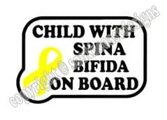 Child With Spina Bifida On Board  - Yellow Ribbon