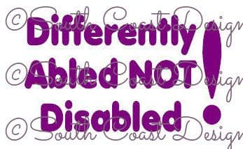 Differently Abled Not Disabled!