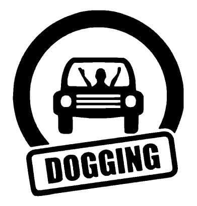 Dogging Car Sticker