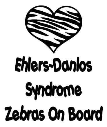 Ehlers Danlos Syndrome Zebras On Board Sticker
