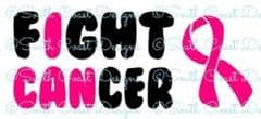I Can Fight Cancer And Ribbon - Car Sticker - Choice Of Colour