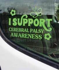 I Support Cerebral Palsy Awareness - Car Sticker