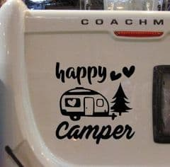 Large Happy Camper - Sticker